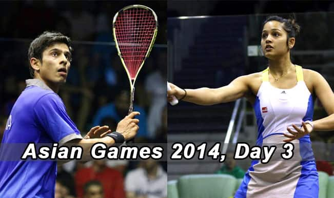 Asian Games 2014 Live Updates: Squash players, shooters, wushu athletes brighten India's Day in Incheon