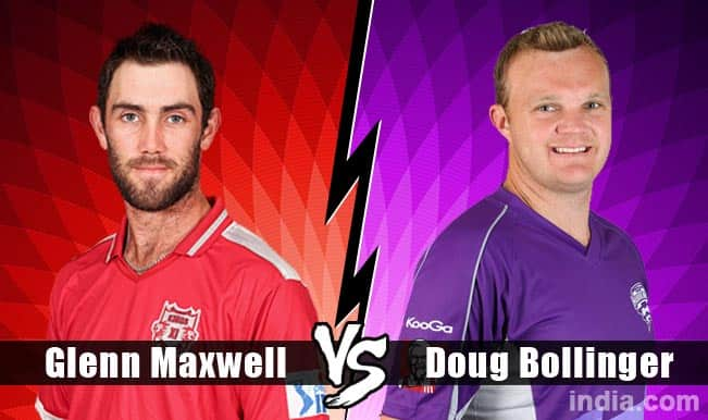 Kings XI Punjab (KXIP) vs Hobart Hurricanes (HH) CLT20 2014: Glen Maxwell or Doug Bollinger – Who will win the battle of Australians?