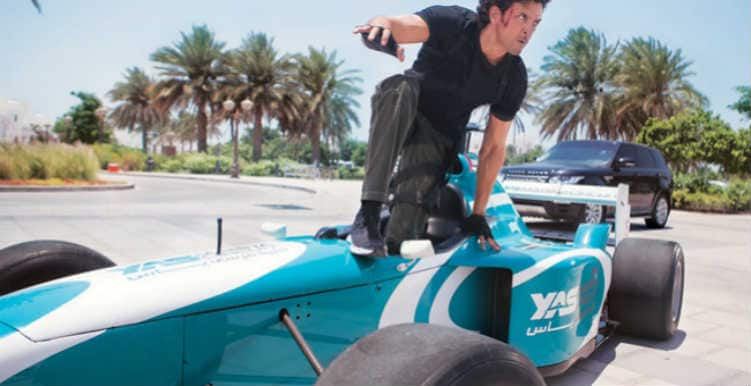 Hrithik Roshan does cool stunts in Formula 1 for Bang Bang