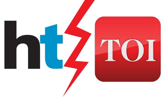 times of india vs hindustan times toi s challenge to prove their