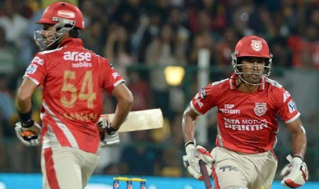 Kings XI Punjab (KXIP) vs Hobart Hurricanes (HBH) Live Cricket Score Updates of CLT20 2014: KXIP beat HBH by 5 wickets