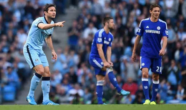 Chelsea Man City Score: Barclays Premier League 2014-15: Frank Lampard Scores As