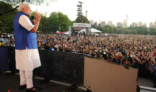 Narendra Modi at Central Park rock concert: Watch Modi Global Citizen Festival speech video
