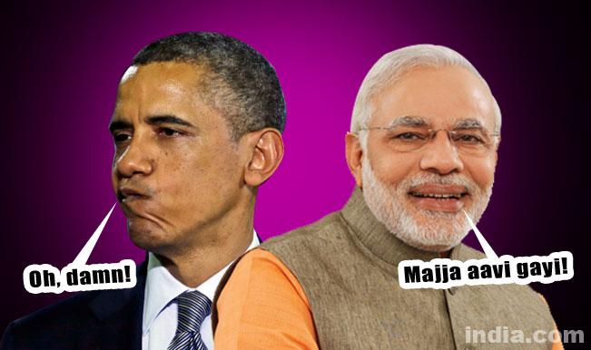 When US President Barack Obama tried to woo Prime Minister Narendra Modi in Gujarati!