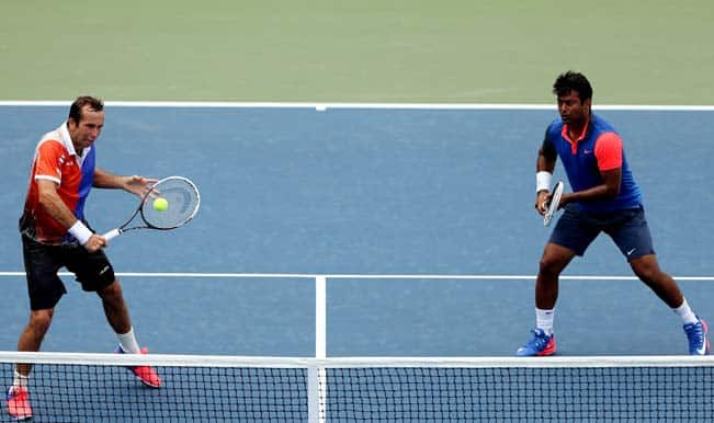 US Open 2014: Sania Mirza reaches mixed doubles semis but Leander Paes suffers exit