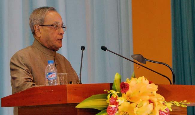 President Pranab Mukherjee congratulates Asian Games medal winners in Incheon