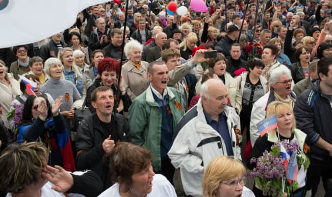 Thousands protest in Moscow against Russian intervention in Ukraine