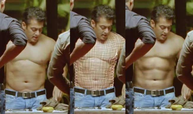 Salman vs SRK: Salman Khan's six-pack abs fake, Shah Rukh Khan's eight-pack is real!