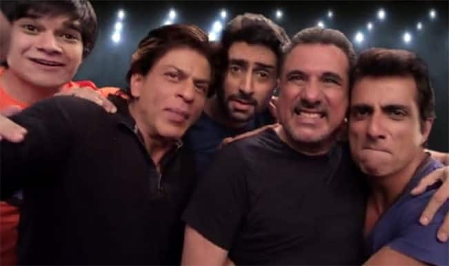 Shah Rukh Khan SLAM selfie video: 'Happy New Year' gang is exciting