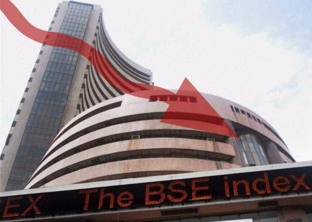 Sensex closes in red, bank stocks down
