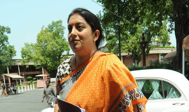 Smriti Irani to vice chancellors: Set up chairs in name of Swami Vivekananda