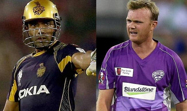 Kolkata Knight Riders vs Hobart Hurricanes, CLT20 2014: Robin Uthappa and Gautam Gambhir face new ball challenges