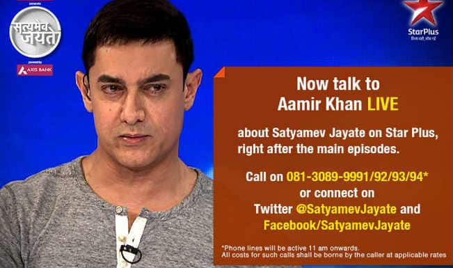 Satyamev Jayate 3, episode 4 live updates: Aamir Khan feels emotionally drained after five years of Satyamev Jayate's journey, says he needs a break