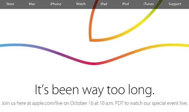 Apple iPad Air 2 launch event live streaming from 10:30 pm IST