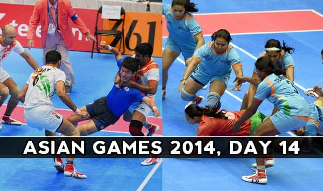 9fb40ed9ac3 Asian Games 2014 Live Updates  Kabaddi teams bring golden joy for India on  Day 14