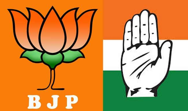 Image result for Bharatiya Janata Party and the Congress,