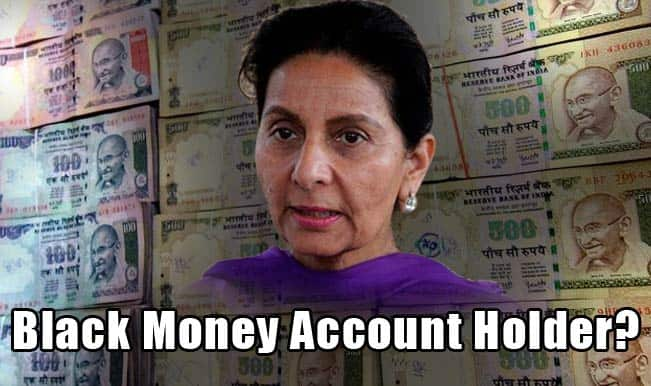 Black Money List: Former UPA minister Preneet Kaur gets IT notice on alleged foreign account