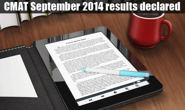 CMAT September 2014 results declared on AICTE official website