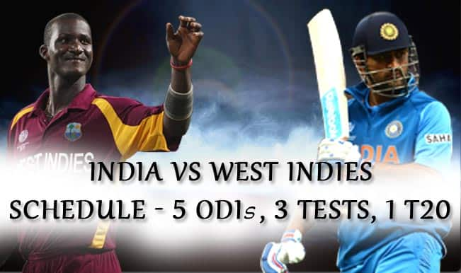 India vs West Indies 2014 Schedule: All Match Fixtures, Venue Details and Complete Time Table