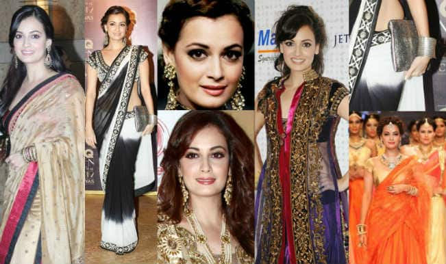 #Diwali2014 style tips: Dia Mirza's top 6 traditional looks you can try this Diwali