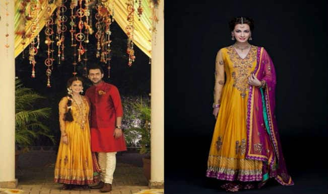 Mehndi Ceremony Outfits : Dia mirza wedding the star s mehendi ceremony pictures with
