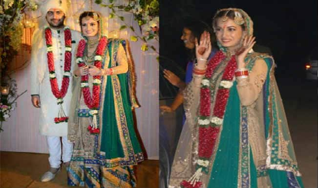 Dia Mirza Wedding See The Wedding Pictures Of The