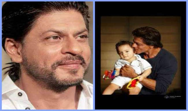 AbRam wishes Eid Mubarak: Shah Rukh Khan shares pic with his son on Twitter!
