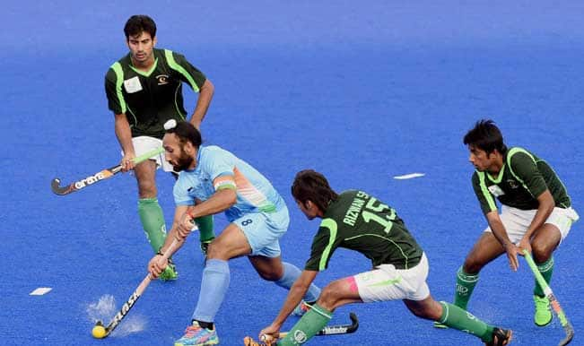 indias sardar singh dribbles past pakistani player during their pool b hockey match at 17th asian games in incheon1 - Asian Games Hockey 2014