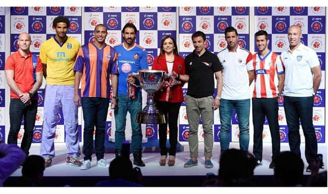Indian Super League: ISL 2014 trophy unveiled in presence of marquee players