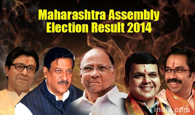 Maharashtra State Assembly Election Results 2014 Live news Update: BJP wins 122 seats, Shiv Sena 63