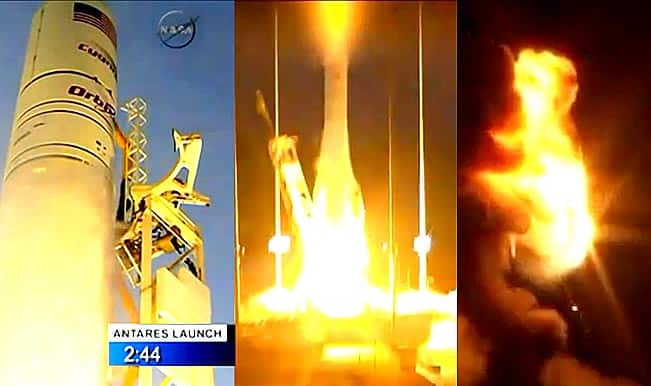 NASA-contracted Orbitual Sciences Corporation's Antares rocket explodes 6 seconds after take-off: Watch Full Video