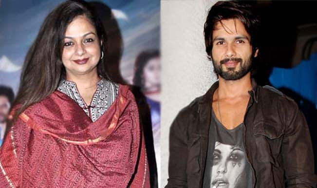 Haider is Shahid Kapoor's best performance, maintains the star's mother Neelima Azeem