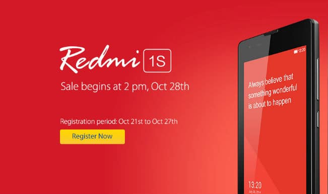 Xiaomi Redmi 1S flash sale on October 28 on Flipkart at 2pm