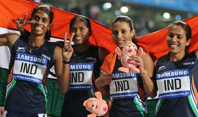 Indian eves clinch 4x400m relay gold at Asian Games 2014 ...