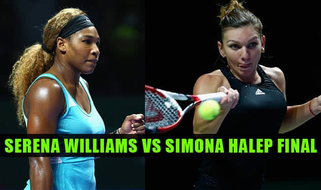 WTA Tour Finals Singapore 2014 Tennis Live Streaming: Serena Williams vs Simona Halep on Finals