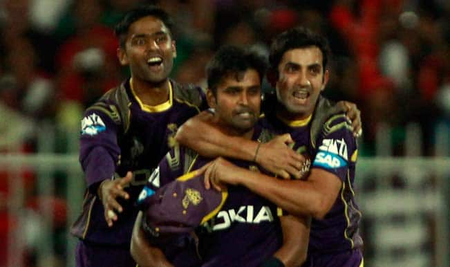 Kolkata Knight Riders' (KKR) Suryakumar Yadav reported for illegal bowling action