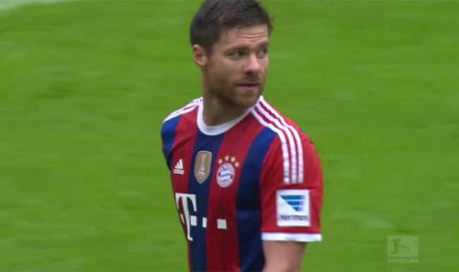 Video: Watch Xabi Alonso his attempt trademark shot beyond the halfway line against Hannover 96