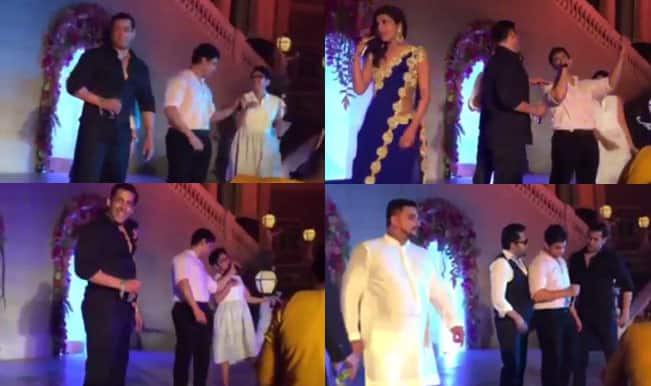 Salman Khan dances to Aamir Khan's Aati Kya Khandala tune at Arpita Khan's wedding: Watch to believe