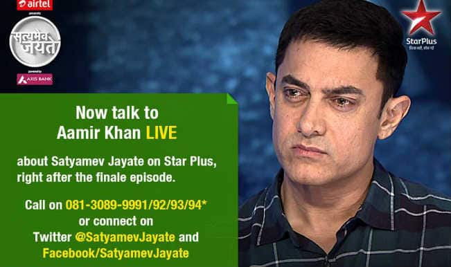 Satyamev Jayate 3, finale episode live updates: Aamir Khan says #ARealMan can bring change with love and not violence