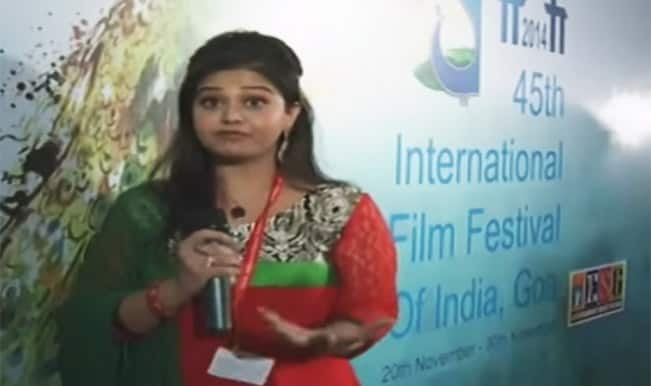 TV reporter's hilarious goof up during IFFI: Watch full video