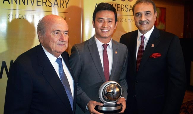 Baichung Bhutia inducted into Asian Football's Hall of Fame at AFC's 60th anniversary