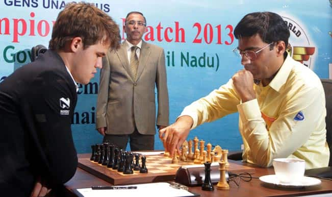 World Chess Championship: Magnus Carlsen retains lead as eighth game with Viswanathan Anand ends in draw