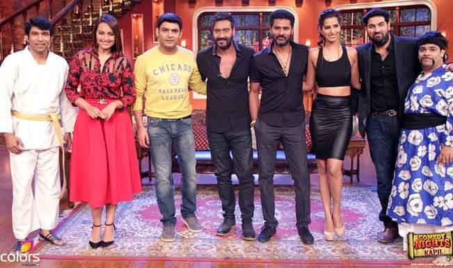 Comedy Nights With Kapil: Ajay Devgn and Sonakshi Sinha promote Action Jackson along with Prabhudeva