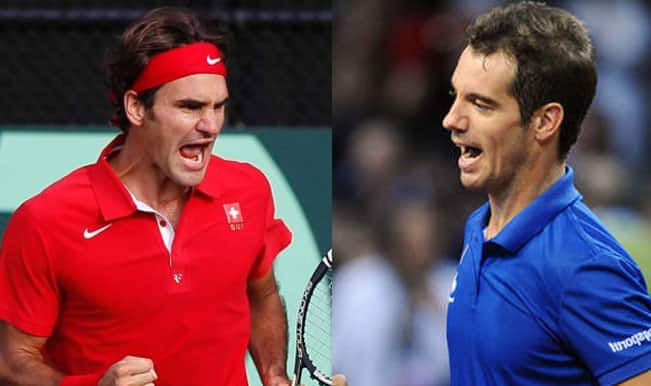 Roger Federer vs Richard Gasquet Match 4 Live Streaming: Get Live Telecast of France vs Switzerland Davis Cup Final 2014