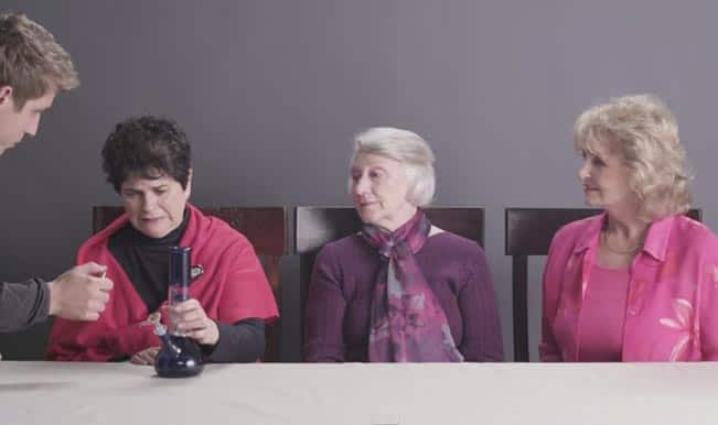 Grandmas Smoking Weed for the First Time: Watch magical reactions of three after getting stoned!
