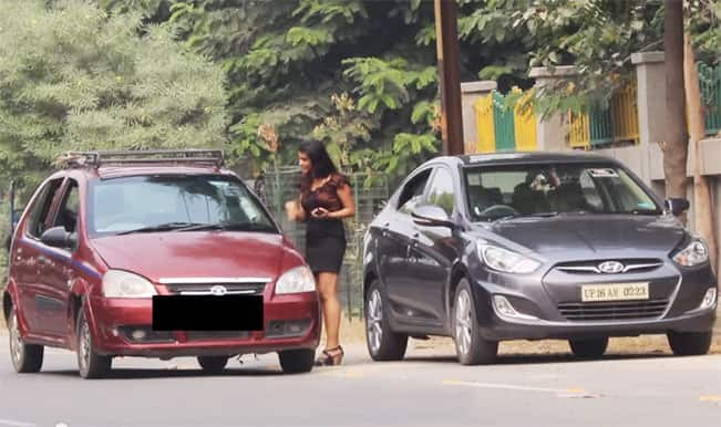 Car owners leave a hot lady in the middle of the road and speed away. Watch the video to find out why