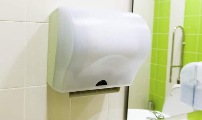 Washroom Hand Dryers Spread More Germs Than Paper Towels Indiacom - Bathroom hand dryer germs