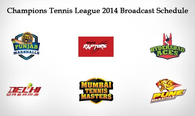 Champions Tennis League 2014 Broadcast Schedule of CTL