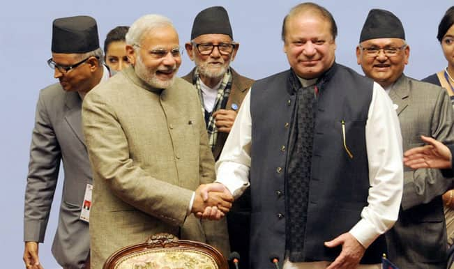 SAARC Summit 2014: Prime Minister Narendra Modi, Pak PM Nawaz Sharif shake hands – watch video