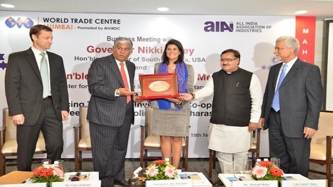 Gov. Nikki Haley Endorses 'Make in Maharashtra' and 'Make in South Carolina' Campaign